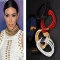 7 Цвета Макси Choker Ожерелье Ким Кардашян Подвески 2017 Заявление Ожерелье для женщин Moon girl Моды Дизайн Чешские Ювелирные Изделия