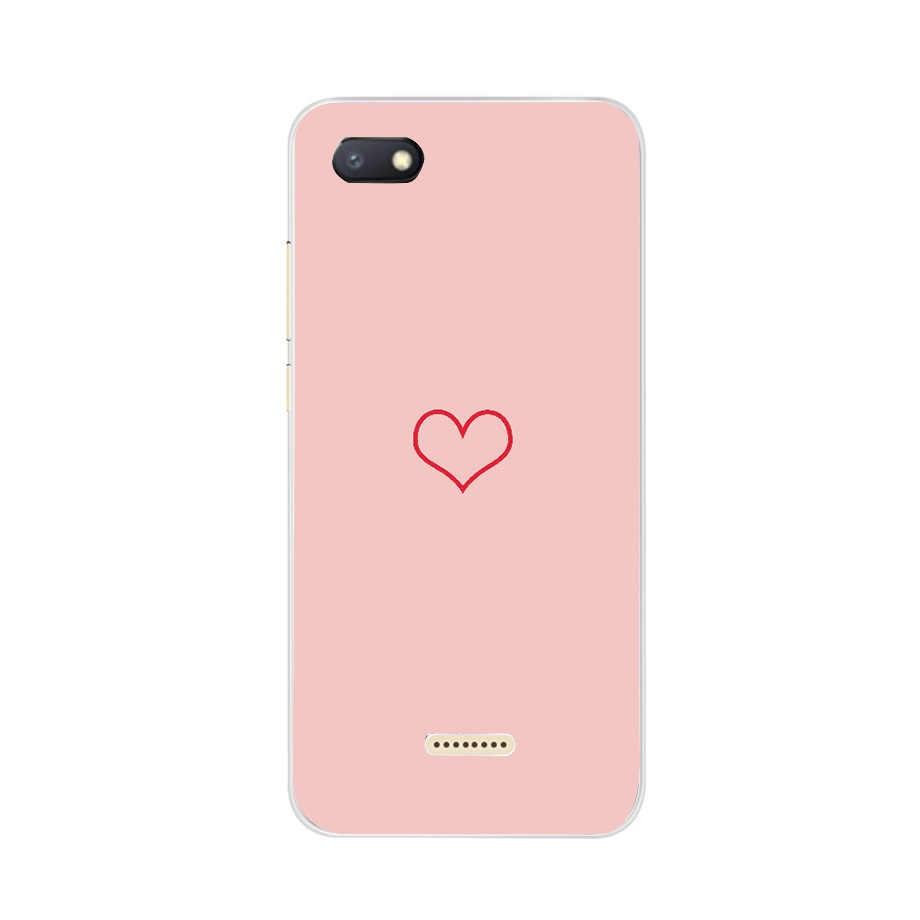 Xiaomi Redmi 6 カバー 5.45 'Redmi 6A 愛電話シェル Xiomi Redmi redmi6 6 を Fundas