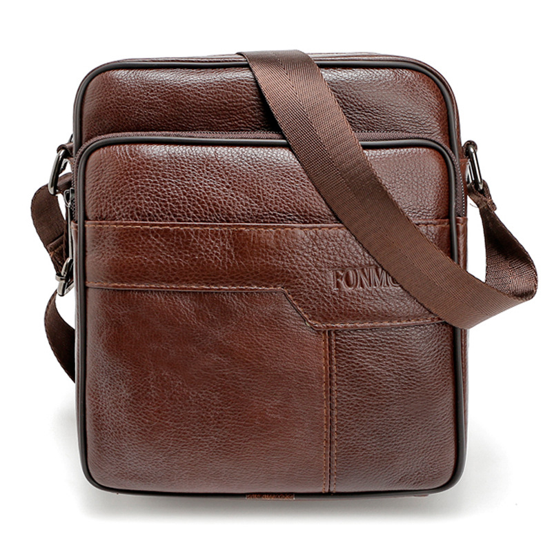 European Style Man Portfolio Office Bag High Quality Business Travel Shoulder Bag Brand Designer Male Small Flap Crossbody Bag