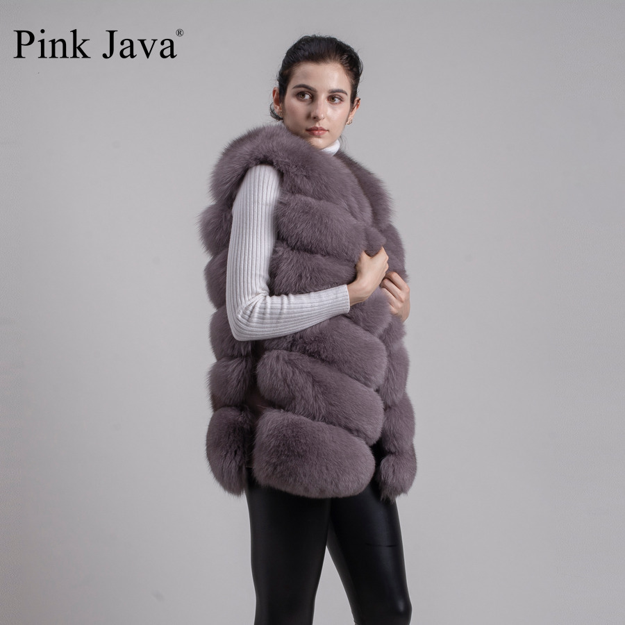 Image 4 - pink java QC8049   2016  New women real  fox fur vest high quality fur gilet hot sale fashion thick fur coat  FREE SHIPPINGgilet clothinggilets mengilet vest -