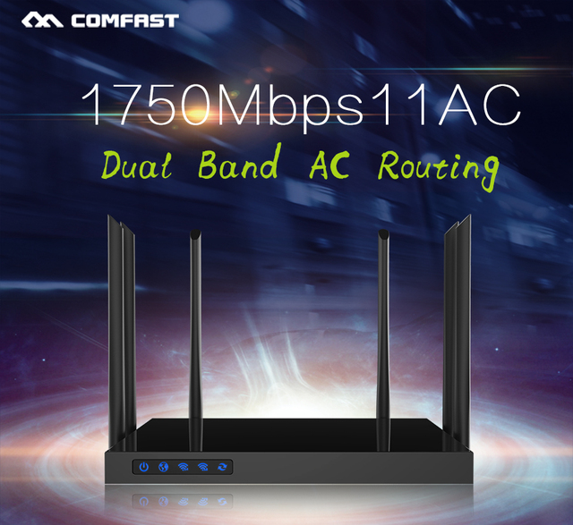 Comfast CF-WR650AC 1750 Mbps AC WI-FI Roteadores 2.4G + 5.8G acesso Gerenciar Enginering AC 802.11ac router 4Lan 1Wan ponto roteador wi fi