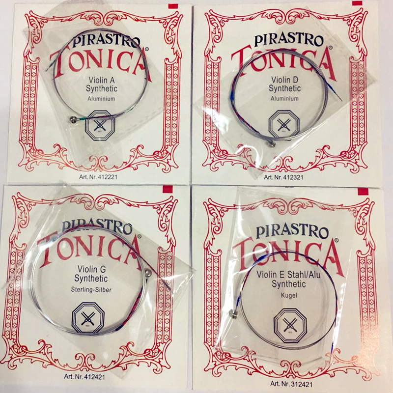 Alemán de Pirastro Tonica cuerdas de violín 4 unids/set E G. D., extremo de bola, un conjunto de pirastro violino cadena para 3/4 de 4/4 accesorios violín
