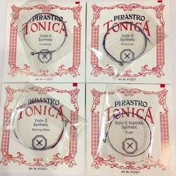 Alemão Pirastro Tonica Violino 4 pçs/set A E G D Bola End um Conjunto pirastro violino Cordas Para 3/4 4/4 Violino Acessórios