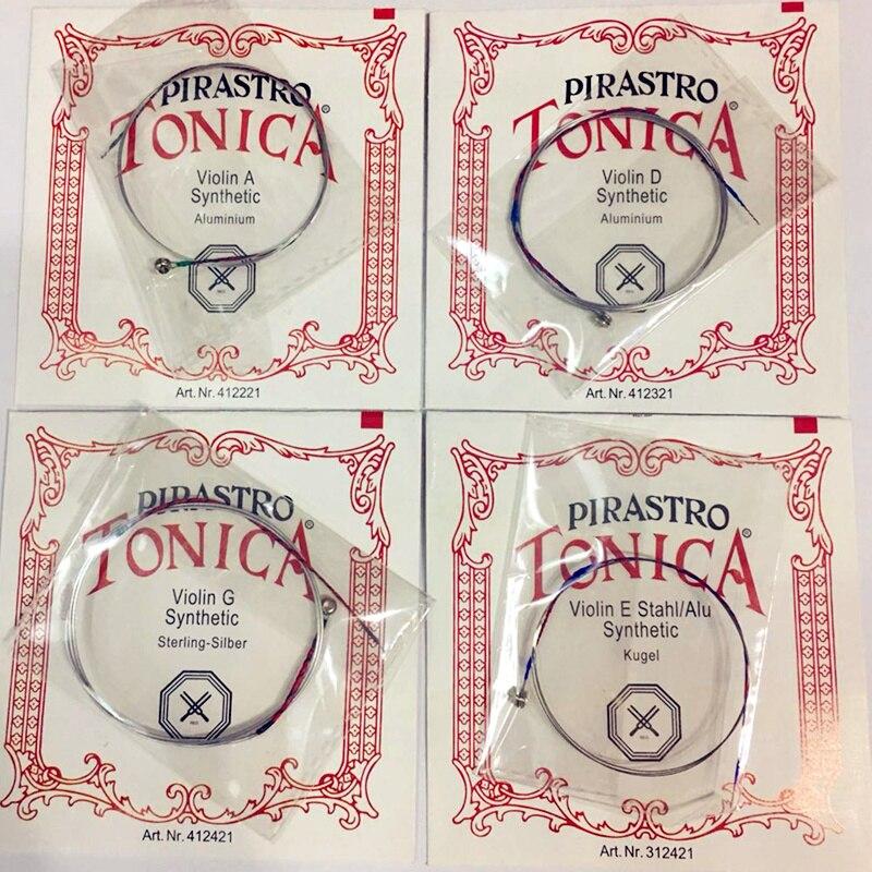 Allemand Pirastro Tonica Violon Cordes 4 pcs/ensemble UN E G D Ball End un Ensemble pirastro violino Chaîne Pour 3/4 4/4 Violon Accessoires