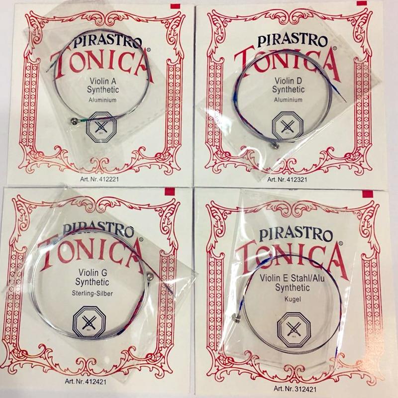 Cuerdas para violín Pirastro Tonica en alemán 4 pzas / Juego A E G - Instrumentos musicales