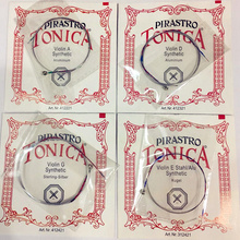 Jerman Pirastro Tonica Violin Strings 4 pcs / Set A E G D D Ball Akhir satu Set pirastro viol String Untuk 3/4 4/4 Aksesori Violin