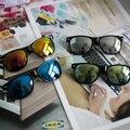 2016 NOVA Moda óculos de Sol Do Vintage Feminino Masculino Óculos de Sol das Mulheres Dos Homens Das Mulheres Grife Óculos de Boa Qualidade
