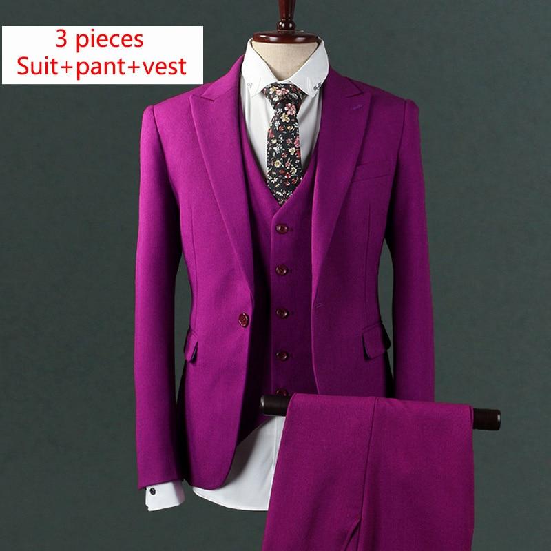 Здесь продается  Fashion Wedding Suits For Men Slim Fit Asian Size Mens Rose Costume Tuxedo Tailcoat Men Suit 2017 New Three Piece Men