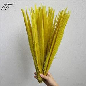 Image 5 - YOYUE 100 個レッドナチュラルキジの尾羽 16 18 インチ 40 45 センチメートル高品質 Diy のジュエリー結婚式の装飾キジの羽