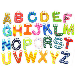Colorful Wooden Alphabet