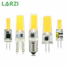 LARZI LED G4 G9 E14 Lamp Bulb AC/DC Dimmable 12V 220V 3W 6W COB SMD LED Lighting Lights replace Halogen Spotlight Chandelier