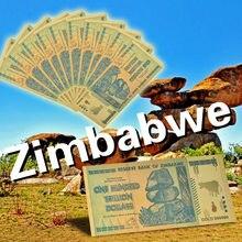 Billetes de oro WR coloridos de Zimbabue, copia de dólar de 100 trillones, dinero con tarjeta de crédito para regalos, 10 Uds.