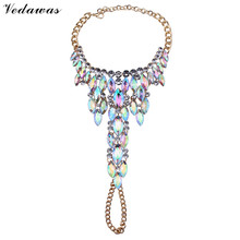 Vedawas 2016 New Fashion Jewelry Hot Sexy Charm Summer Multicolor Rhinestone Beads Boho Anklets Bracelets Women 1 Piece XG2538
