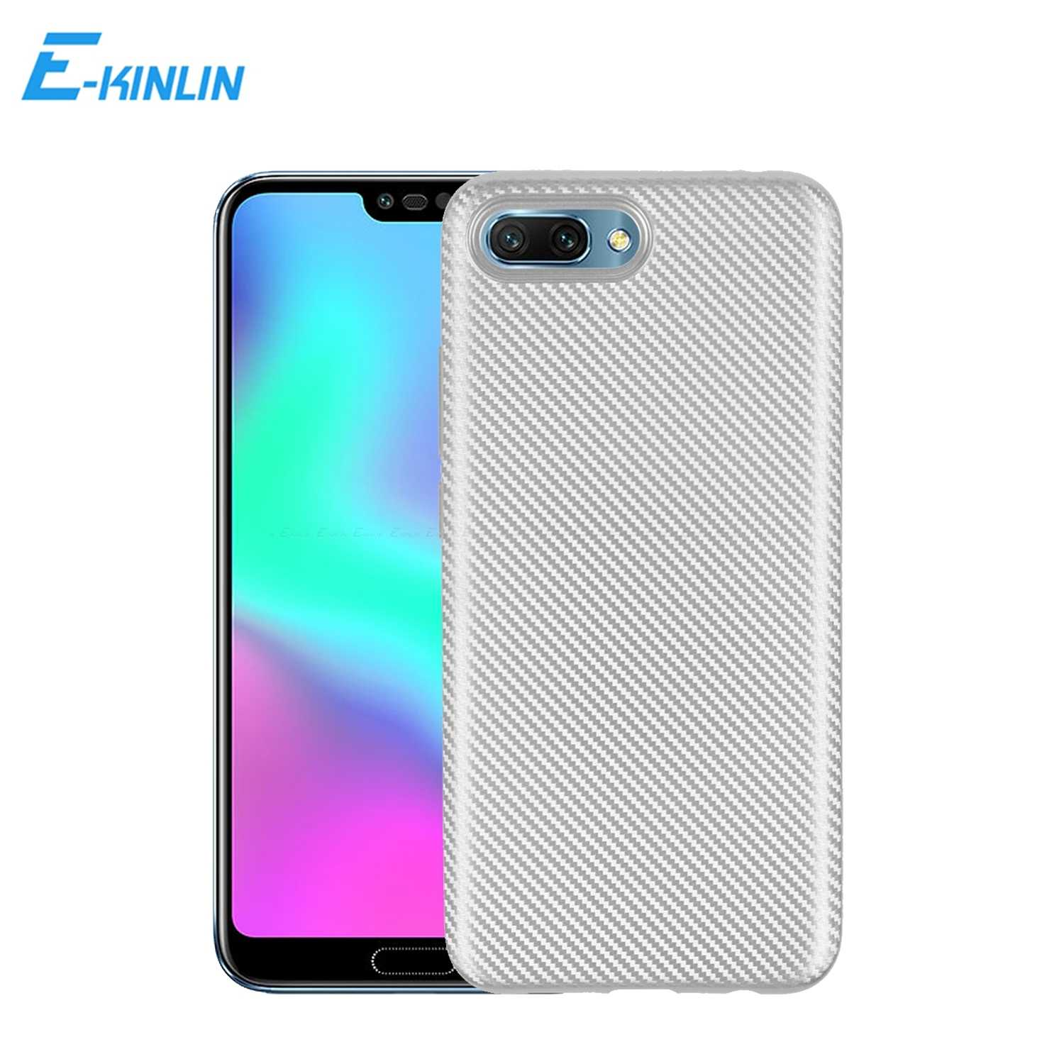 Ultra Thin Light Carbon Fiber Soft Back Cover Case For Huawei Honor 10 7S 9 Youth V9 Play 8 Lite Smart 8X 7X 6A 6C 5C Pro