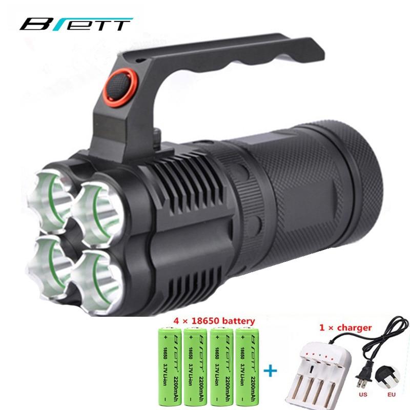 Potente linterna led cree xm-l2 o cree xm-l t6 Autodefensa exterior Caza Búsqueda y rescate Reflector portátil