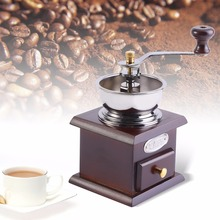 Classical Wooden Manual Coffee Grinder With Ceramic Millstone Retro For Home Decoration Coffee Spice Grinder Grinding Tool