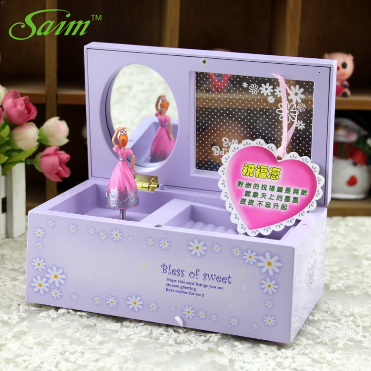 Plastic Casket Music Box Creative Music Jewelry Box