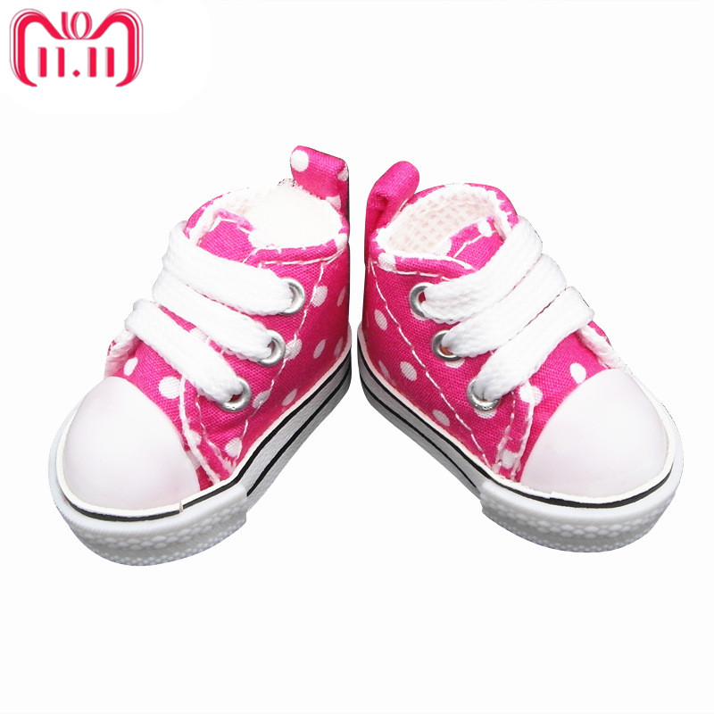 Tilda 5cm Canvas Doll Shoes For BJD Accessory,Mini Textile Doll Boots 1/6 Toy Sneakers Shoes for Handmade Doll,Polka Dots Shoes tilda 5pairs lot 5cm canvas sneak for bjd doll mini textile doll boots 1 6 polka dots designer sneakers shoes for handmade dolls