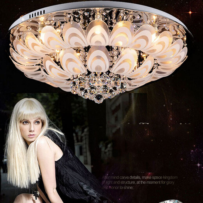 Modern yang dipimpin lampu kristal, Lampu ruang tamu, Langit-langit - Pencahayaan dalam ruangan