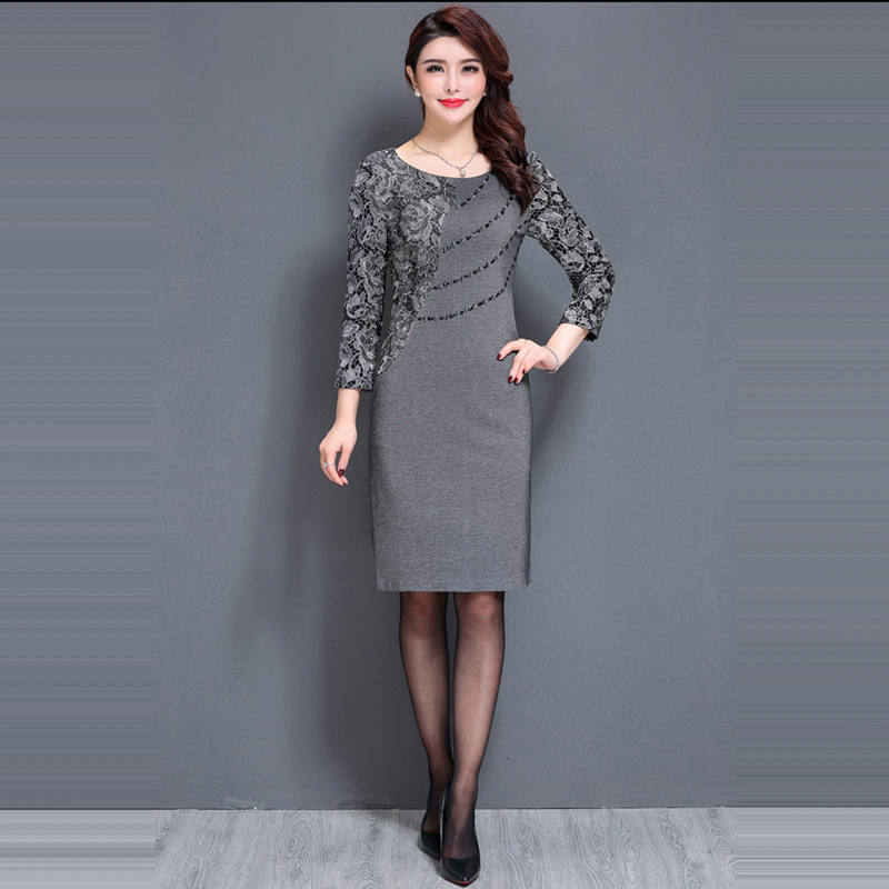 It s Yiiya Mother of the Bride Dresses O Neck Three Quarter Sleeve Lace  Slim Plus Size A Line Elegant Mother Dress M031-in Mother of the Bride  Dresses from ... 5b57ce52cd06