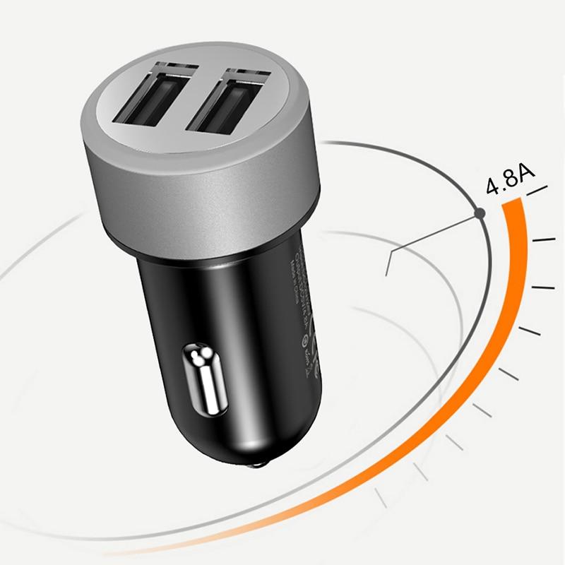 FERISING Mini Billaddare Adapter Universal 4.8A Dual Port billaddare - Reservdelar och tillbehör för mobiltelefoner - Foto 4