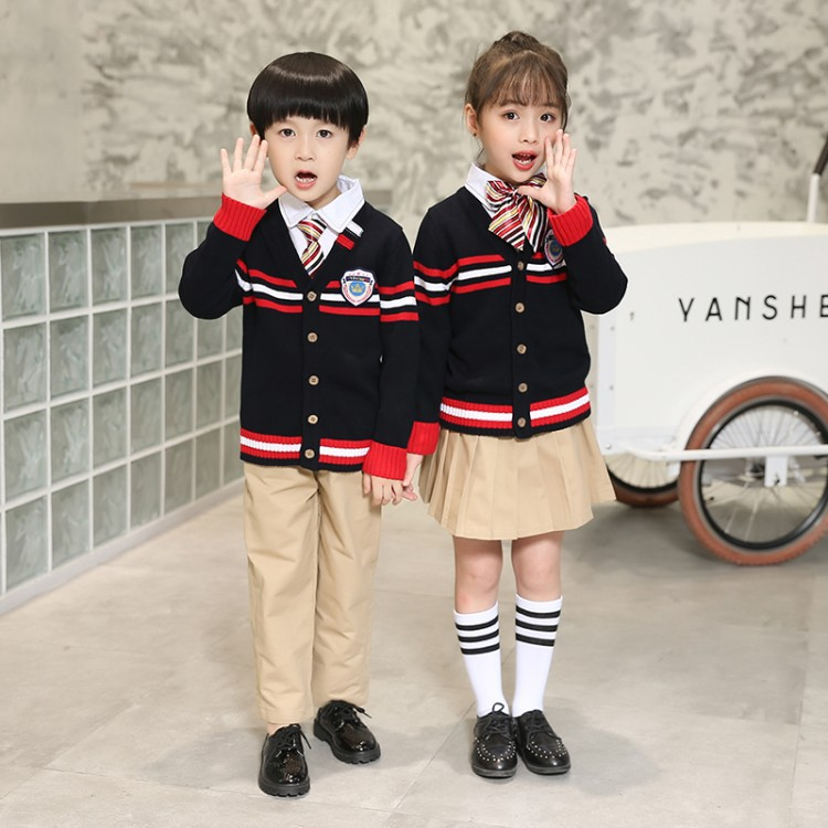8833 Size 90-180cm  Autumn and Winter School Uniforms for Boys and Girls Primary and Secondary Schools Three-piece Clothes Sets8833 Size 90-180cm  Autumn and Winter School Uniforms for Boys and Girls Primary and Secondary Schools Three-piece Clothes Sets