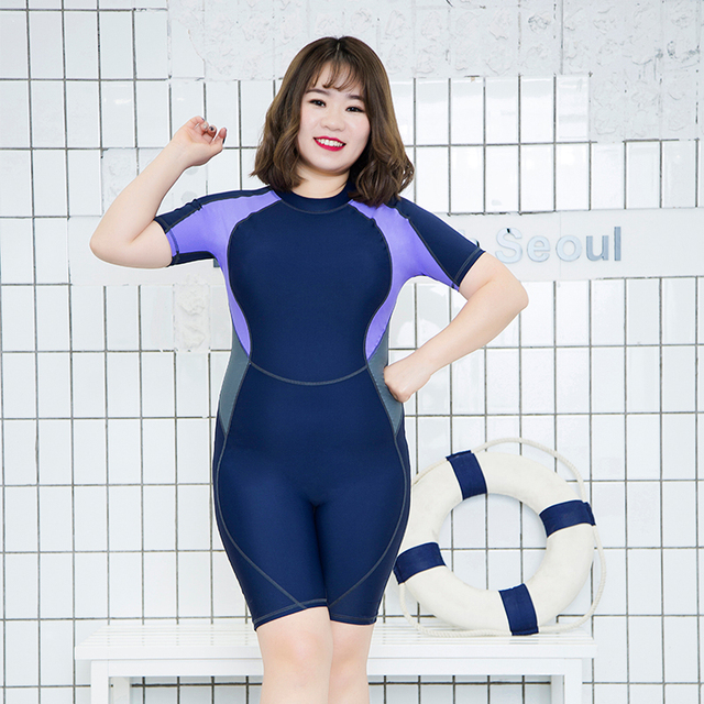 b745cc565ac16 2018 One Piece Women Sport Swimwear Plus Size Swimsuit Large Size Ladies Beachwear  Surfing Suits Maillot De Bain Femme Bodysuits