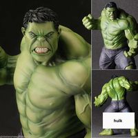 23cm Super Heroes The Marvel Avengers Select Movie Anger Hulk Action Figures Toys PVC Resin Plastic Model Statue Dolls Kids Toy