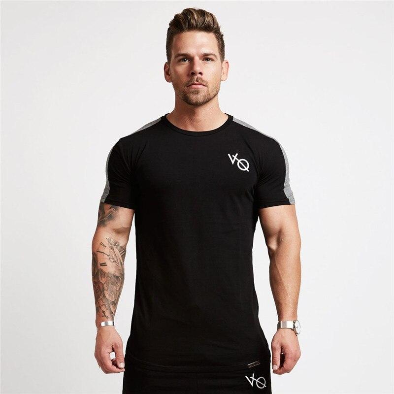 Di marca Degli Uomini T-Shirt Maniche Corte Bianco grigio nero Canottiera Maschile Solido Cotone Mens Tee di Estate Jersey di Abbigliamento di Marca Homme