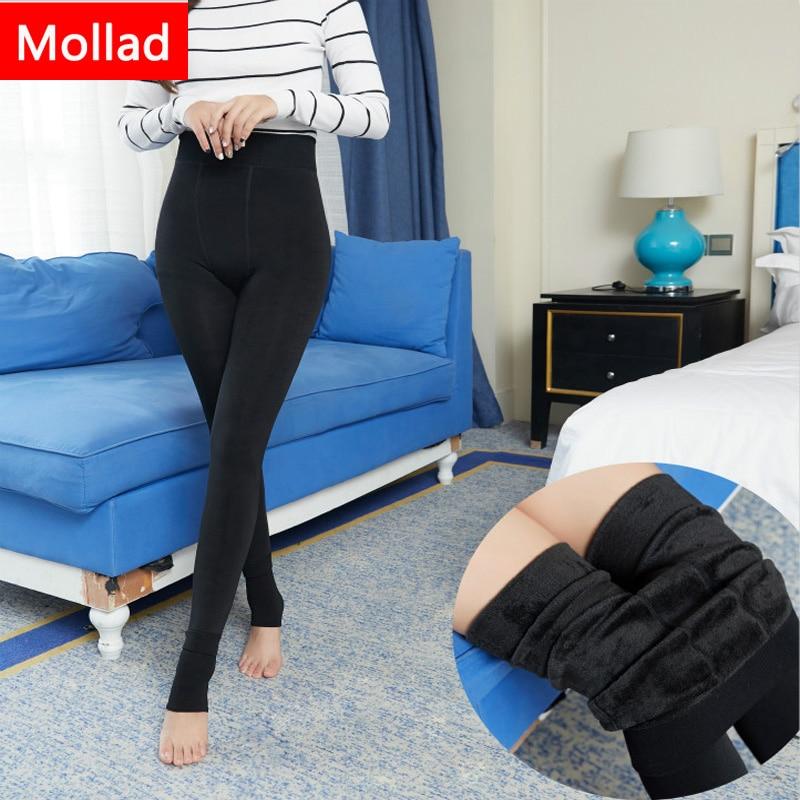 Mollad NEW plus cashmere fashion leggings women girls Warm Winter Bright Velvet Knitted Thick Legging Super