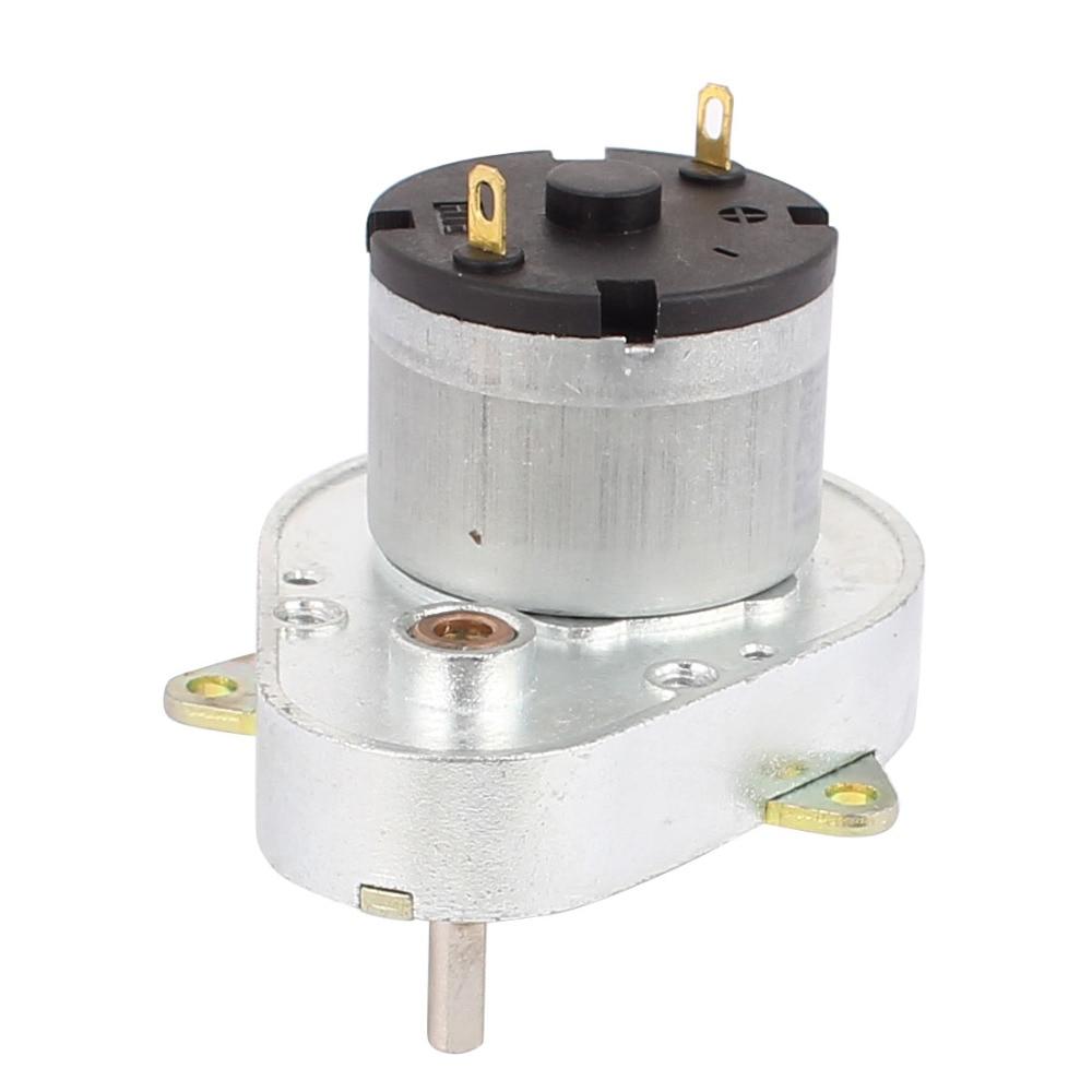 Uxcell Newest 1 Pcs High Torque 4mm Shaft Diameter Power DC 24V 30RPM Gear Box Motor цены