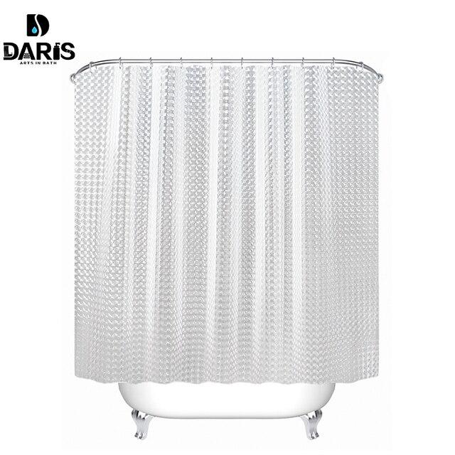 Cortina de ducha SDARISB EVA translúcida 3D gruesas cortinas de ducha cortina de baño a prueba de molduras cortina de baño impermeable