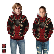 2019 Girls Hoodies Sweatshirts Fashion Boys The Avengers Endgame 3D Print Marvel Superhero Captain America Iron Man Sweatshirt