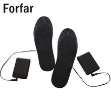 купить 1Pair Winter Warmer Pads Heated Insoles Women Men Washnable Electric Battery Heating Warm socks USB Charge Warm Insoles по цене 310.68 рублей