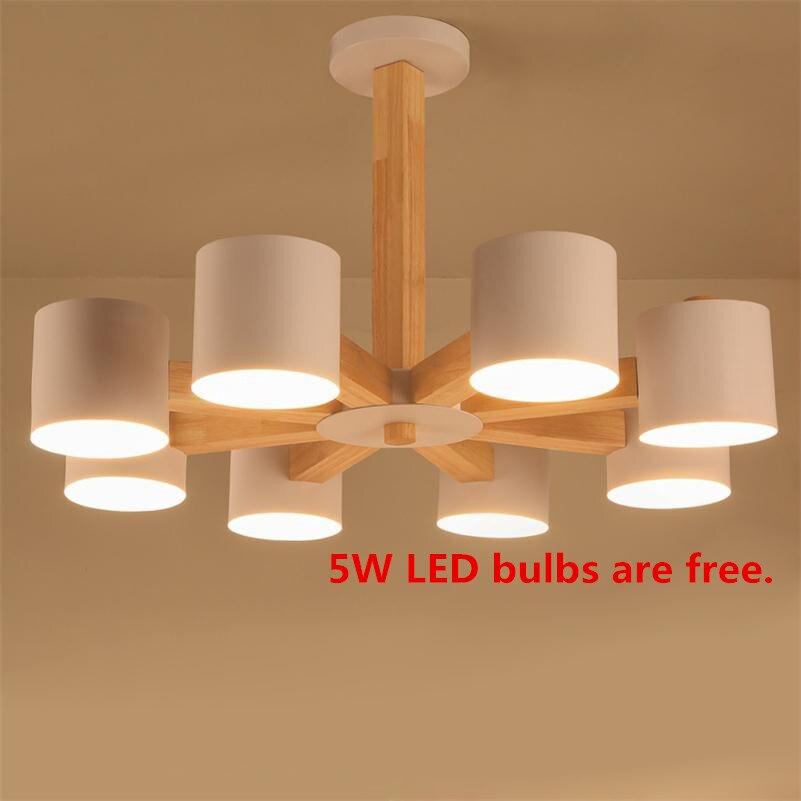 Nordique En Bois Pendentif Lumière E27 Loft Luminaire Suspendu Intérieur Droplight Minimaliste Lampes Suspendues Lampara Techo Colgante Moderna
