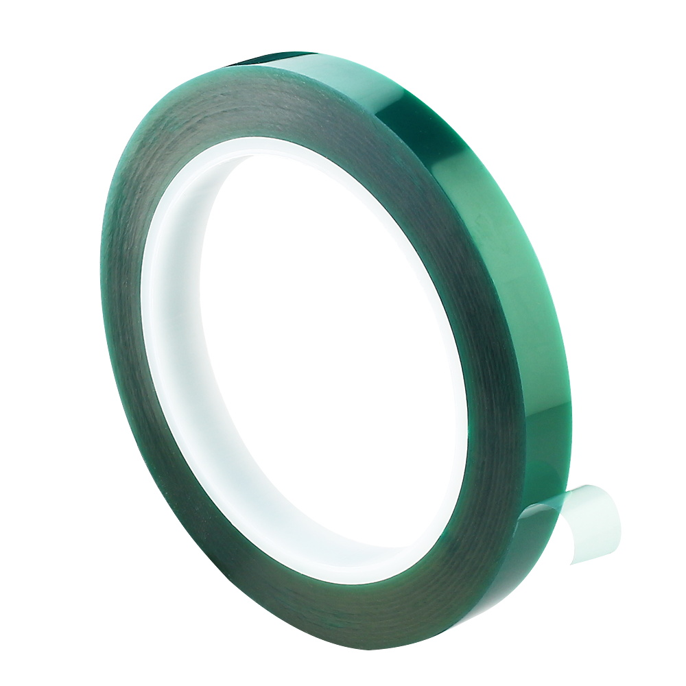 Green Pet Tape Heat-resistant PET High Temperature Shielding Tape for PCB Solder Plating Insulation Protection 10mm/20mm/30mm овергрип head protection tape
