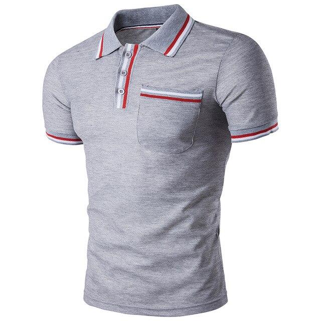 2017 Nova Marca de roupa masculina Polos Camisas POLO Mens slim fit homem Camisa  Pólo de 07b902a53a