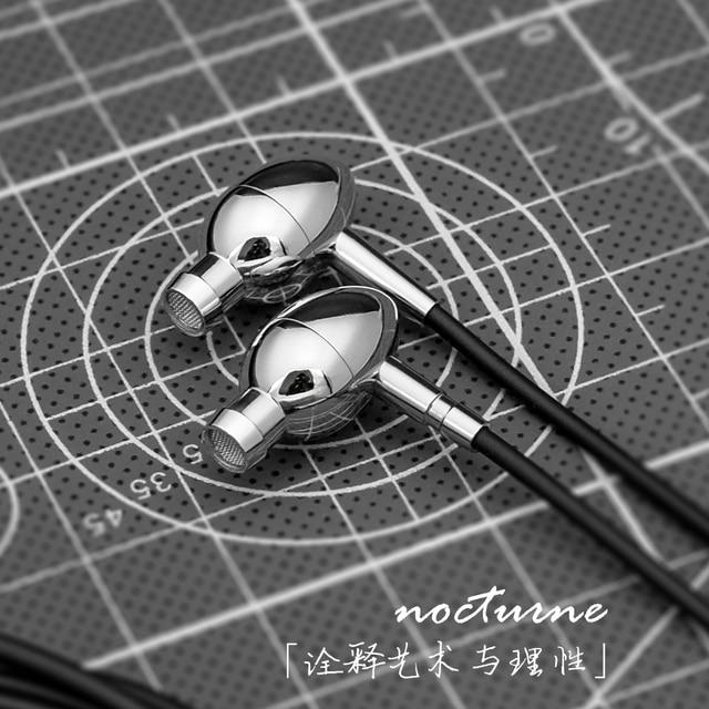 HOT NICEHCK Moondrop Nocturne Single BA Drive Unit In Ear Earphone HIFI DJ Earphone Headset Free Shipping