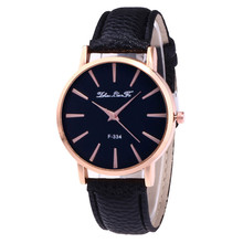 Women's Watches New Fashion Casual PU Leather Strap Analog Quartz Round Watch Women Ladies Girls Gifts Clock Luxury relogio SA60