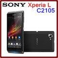 Abierto original sony xperia l c2105 s36h 8mp 1700 mah 8 gb rom 1 gb ram 4.3 pantalla táctil reformado smartphone envío gratis