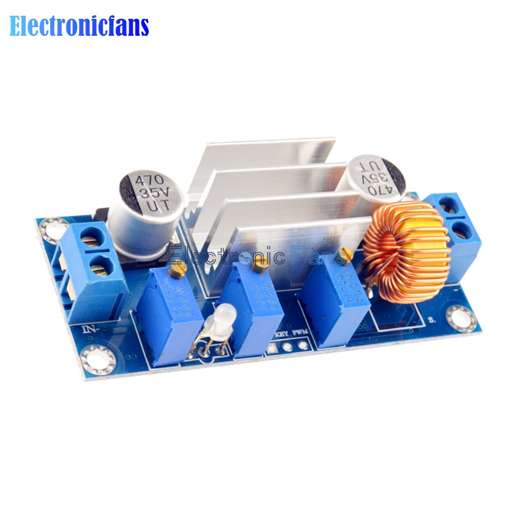 Automatic Protection! 5A Max DC-DC XL4005 Step Down Buck Power Supply Module Adjustable CC/CV Lithium Charge Board for Arduino 1