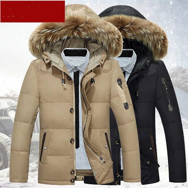 656fcc035bcf Winter Jacket Men 2018 Mens Clothing Casual Duck Down Jacket Men Fur Collor Hooded  Parka Men Down Coat Casaco Masculino ZT514