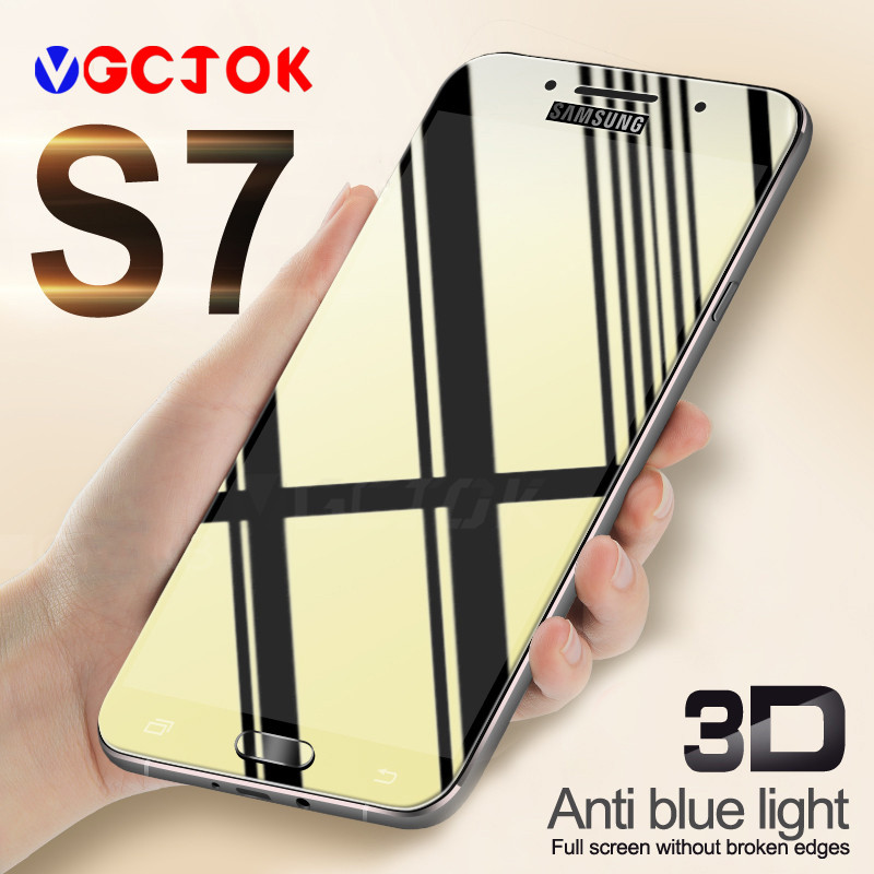 9H 3D Full Cover Protective Glass For Samsung Galaxy J3 J5 J7 2016 2017 Tempered Glass For Samsung Galaxy S6 S7 Screen Protector