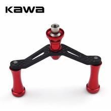 Kawa Fishing Reel Carbon Fiber Double Handles with Aluminum Alloy Knob, Suit for Daiwa Reel, Fishing Tackle Accessory