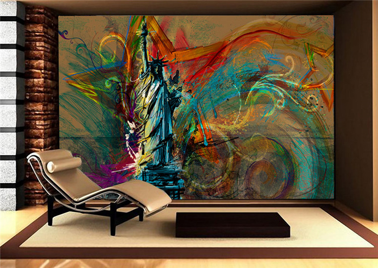 Aliexpress.com : Buy Custom Large Wall Mural Statue Of Liberty Photo  Wallpaper Silk Wallpaper Abstract Art Room Decor Ceiling Bedroom Home  Decoration From ... Part 39