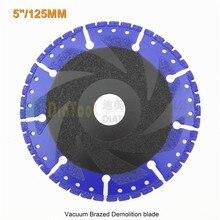5 «вакуумной Пайки Алмазный диск для универсального 125 мм спасательных алмазный диск Снос лезвия для жестких материал Железа стали камень