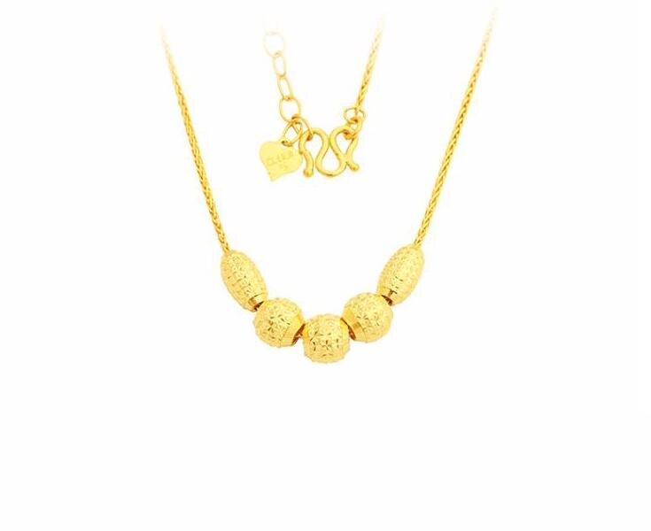 PURE 999 SOLID 24K YELLOW GOLD NECKLACE / WOMEN LINK CHAIN NECKLACE 12.99g