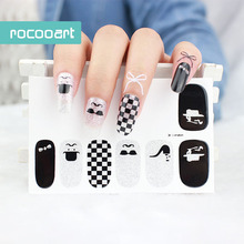 Y001/2015 Hot Sale Nail Decals Full Wraps Unique Pattern Waterproof Polish Stickers