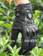 SCOYCO MX40 гонки Кожаные перчатки Мотоцикла мото защитные внедорожных мотоциклов электрический велосипед перчатки черного цвета РАЗМЕР Ml XL