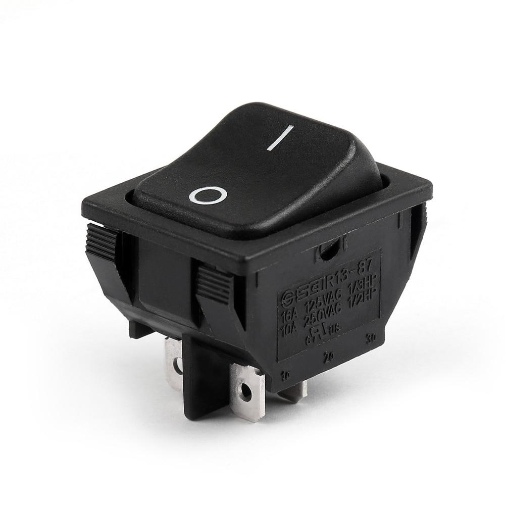 Waterproof SCI R13-135A Round Rocker Switch SPST 2Pin 10A//250VAC 16A//125VAC USA